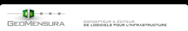 Geomensura CONCEPTEUR & �DITEUR DE LOGICIELS POUR L'INFRASTRUCTURE